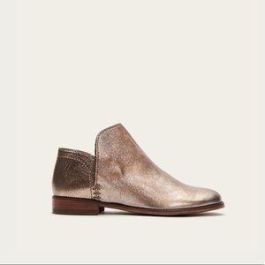 Frye Elyssa Shootie Golden Silver Ankle Boot